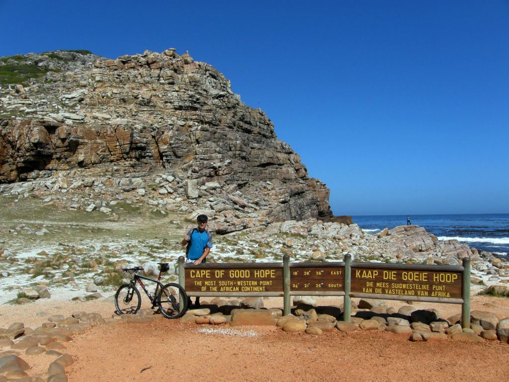 Mountain biking to the Cape of Good Hope Nature reserve.